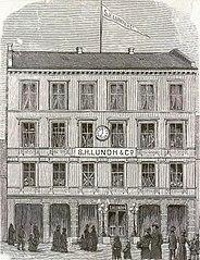 Det nye Kristiania. S. H. Lundh & Co.s Forretningslokale.