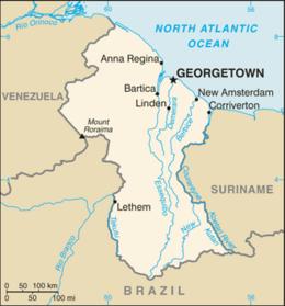 Guyana - Mappa