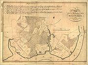 Mount Vernon, num desenho do próprio Washington.