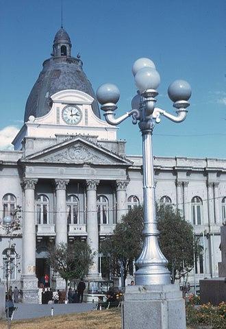 Palacio Quemado - The lamppost where Gualberto Villarroel was hanged