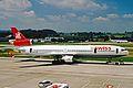 HB-IWN 2 MD-11 Swiss Asia Al ZRH 19JUN03 (8551287616).jpg