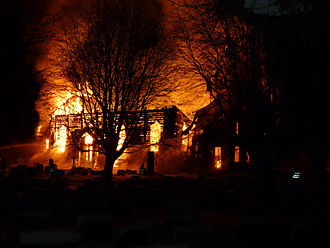 2010 in Norway - The Hønefoss church The church burned down to the ground on 26 January