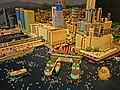 HKPIEG Infrastructure Gallery exhibit - 尖沙咀 TST 現今建築物 Lego model now May-2013 Star Ferry Piers Harbour City One Peking Star House.JPG
