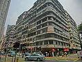 HK CWB 106-126 Leighton Road 禮信大廈 Lei Shun Court facade July-2014 Caroline Hill Road corner building.JPG