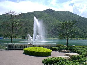 Inspiration Lake at Hong Kong Disneyland Resor...
