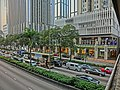 HK Wan Chai 灣仔 告士打道 Gloucester Road view Candlenut trees China Resource Building n Causeway Building 22-Mar-2013.JPG