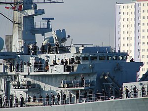 HMS Lancaster (F229) - Lancaster returning from a deployment in the Persian Gulf.