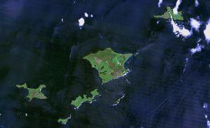 Habomai Islands - Khabomai Rocks from space