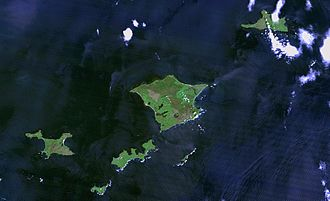 Habomai Islands - Khabomai Rocks from space