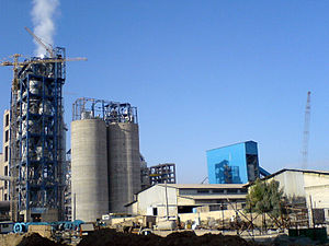 Mining in Iran - A cement factory in Khuzestan Province