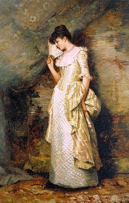 Donna con ventaglio, di Hamilton Hamilton