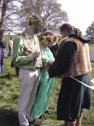 Handfasting (Neopaganism) - Neopagan handfasting ceremony