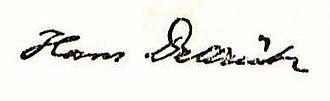 Hans Delbrück - Image: Hans Delbrück Signatur 1927
