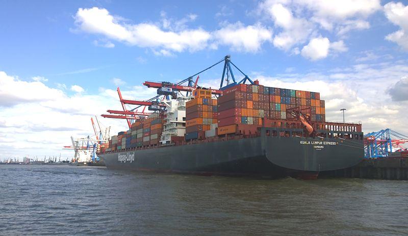 File:Hapag-Lloyd container shipping Kuala Lumpur Express in Hamburg at the Burchardkai Terminal in June 2015.jpg
