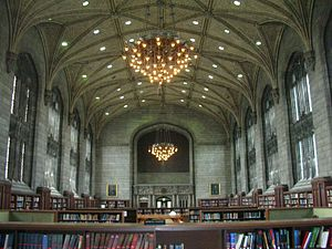 University of Chicago Library - Harper Memorial Library, interior as of 2007, University of Chicago. Today, Harper Memorial contains no books or any other collections, but instead functions as a study space.