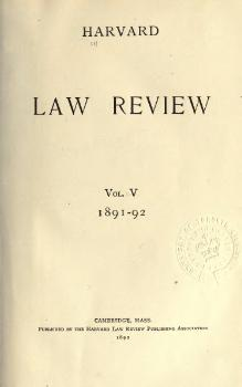 Harvard Law Review Volume 5.djvu