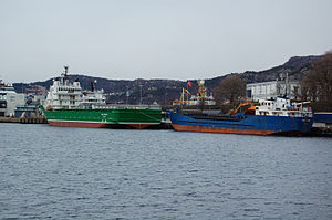 English: Norwegian cargo ships Havila Favour (...