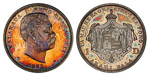 Hawaiian dollar - Image: Hawaii 1883 One Dollar