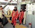 Hawley, Sullivan and Shriver at LC-39B during STS-31 preparations.jpg