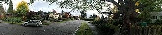 Hawthorne Hills, Seattle - The Hawthorne Hills neighborhood on an overcast day