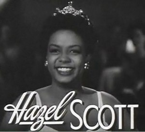 Hazel Scott - Image: Hazel Scott in Rhapsody in Blue trailer