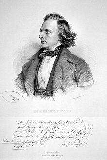 Henry Charles Litolff, Lithographie von Josef Kriehuber, 1843 (Quelle: Wikimedia)
