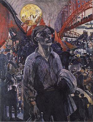 Hamburg Uprising - Image: Heinrich Vogeler ~ Hamburger Werftarbeiter 1928