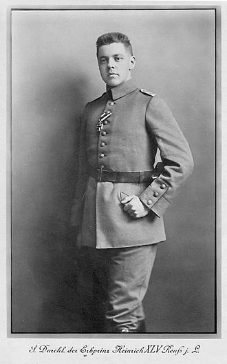 Heinrich XLV, Hereditary Prince Reuss Younger Line - Image: Heinrich XLV Rj L