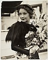 Helen Twelvetrees arrives from Hollywood to make the film The Thoroughbred in Sydney, 2 December 1935 - silver gelatin photoprint by Harry Freeman (7785505968).jpg
