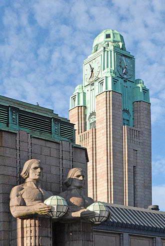 Gotham City - Art deco and art nouveau buildings, such as the Helsinki Central Railway Station, inspired the look of Gotham in the 1989 film Batman.