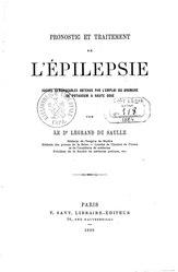 Henri Legrand du Saulle: Pronostic et traitement de l'épilepsie