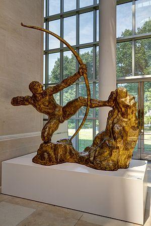 Hercules the Archer - Hercules the Archer in the Metropolitan Museum of Art, New York, gilt-bronze.