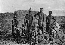 Un gruppo di Herero, anni 1910