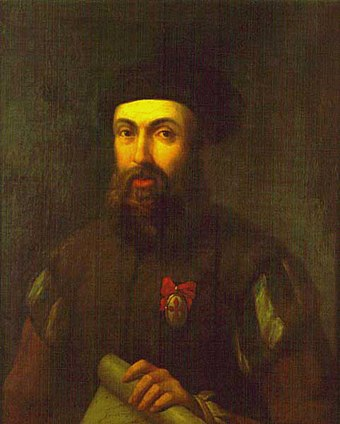 Ferdinand Magellan, Portuguese navigator who was the first European to visit Guam (March 6, 1521) while commanding the fleet that circumnavigated the globe Hernando de Magallanes del museo Madrid Fix.jpg