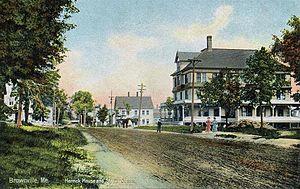 Brownville, Maine - Image: Herrick House & Street Scene, Brownville, ME