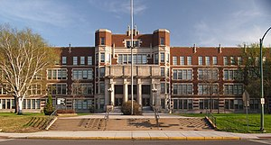 Hibbing High School - Hibbing High School from the north