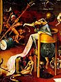 Hieronymus Bosch, Hell (Garden of Earthly Delights tryptich, right panel) - detail 1 (devil).JPG