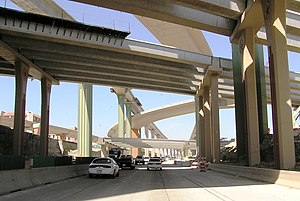 High Five Interchange - High Five Interchange under construction in 2005