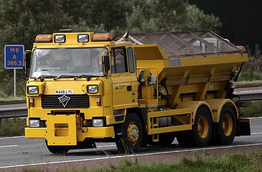 Highways Agency 1995 Foden Telstar gritter truck, 4 February 2009