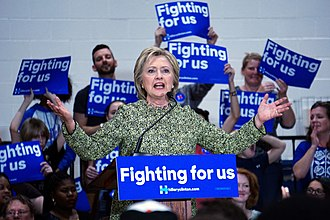 2016 Democratic Party presidential primaries - Hillary Clinton during a rally, in March 2016