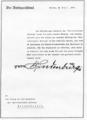 Hindenburg gratuliert 1931 der Grevenbroicher Zeitung.png