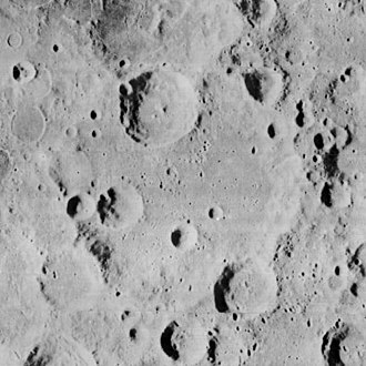 Hirayama (crater) - Hirayama viewed by Lunar Orbiter 2 in 1966