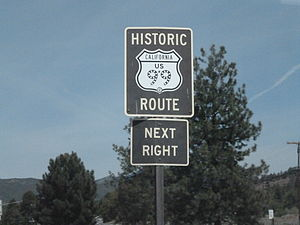 U.S. Route 99 in California - Historic US 99 Marker on I-5