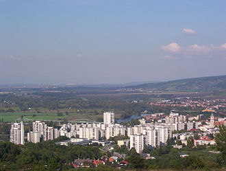 Hlohovec - Hlohovec, view from south