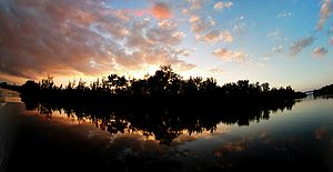 Hobe Sound, Florida - Sunset from the Intracoastal Waterway in Hobe Sound, Florida.