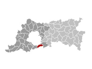 Hoeilaart - Image: Hoeilaart Locatie