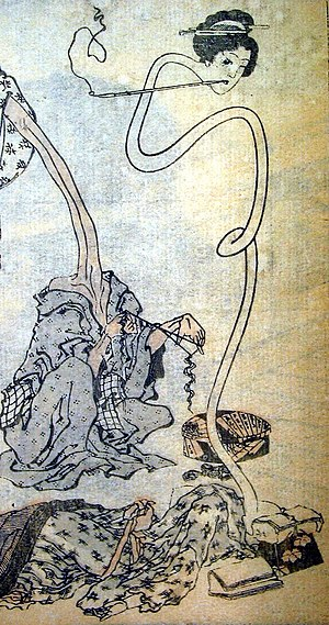 """Rokurokubi - """"Rokurokubi"""" from the Hokusai Manga by Katsushika Hokusai"""