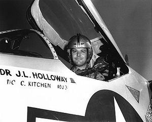 James L. Holloway III - Cmdr Holloway, commanding officer, VA-83.