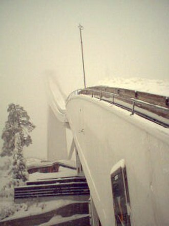 FIS Nordic World Ski Championships 1982 - 2004 picture of the ski jump used for the 1982 championships.