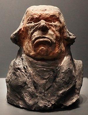 Antoine Odier - Terracotta bust of Odier by Honoré Daumier, Célébrités du Juste Milieu series